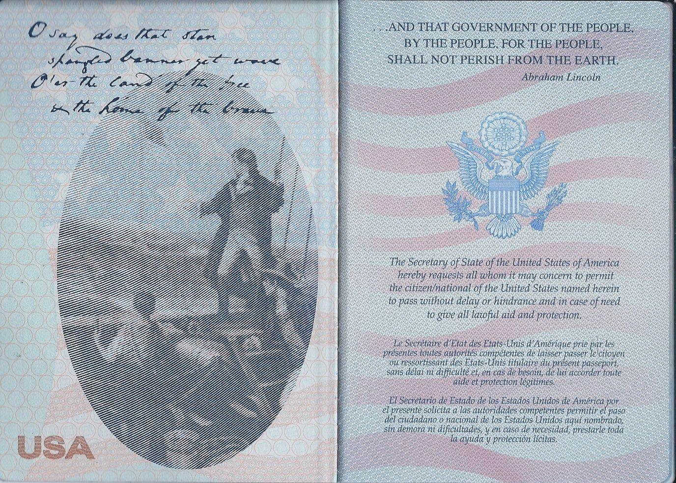 американского паспорта фото