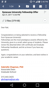 fellowship letter