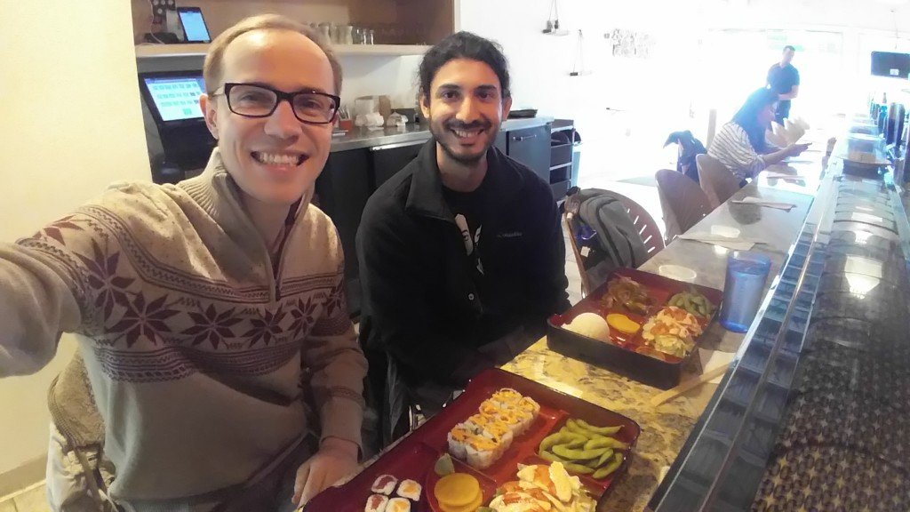 Едим суши с Джьянпьетро